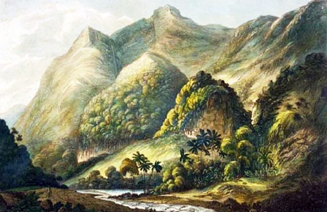 A view of Matavai. Painting by John Webber. 1780
