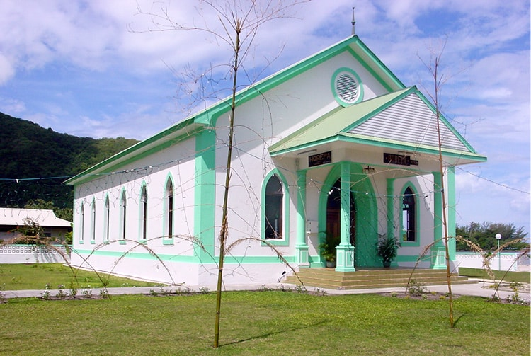 Temple protestant de Horeba - Afareaitu. 2001 © Tahiti Heritage