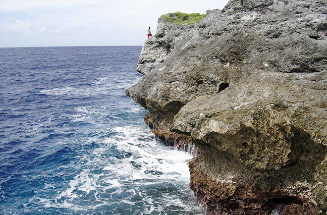 Tepari, falaises de la côte Nord de Niau