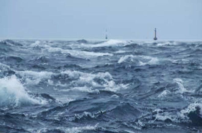 Passe de Ganue à Raroia pendant la tempête.