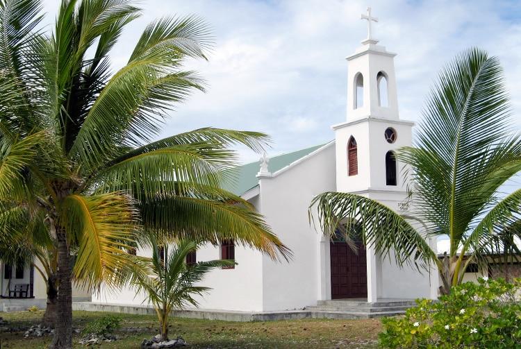 Nouvelle église de Hititake de l'atoll d'Amanu