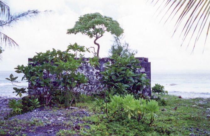 Vieux phare du village de Hititake à Amanu