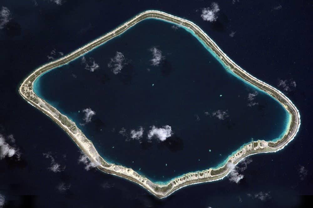 Atoll de Tureia, Tuamotu. Photo NASA