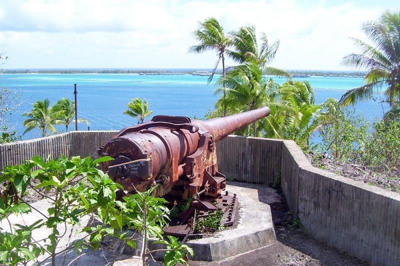 Canon américain d'Anau à Bora Bora. Photo Jules Shan