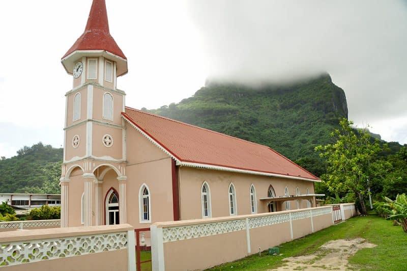 Temple protestant de Vaitape à Bora Bora