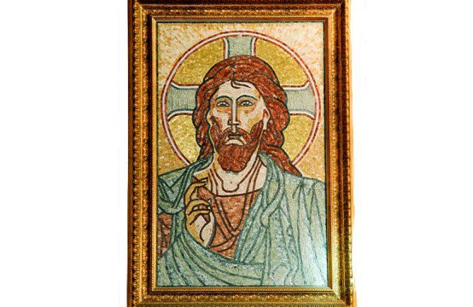 Fresque du Christ Pantocrator de la cathédrale de Papeete
