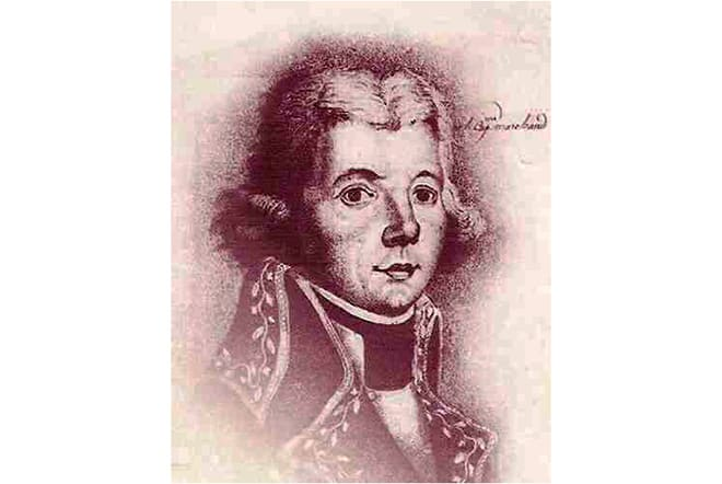 Le capitaine français Etienne Marchand commandant du Solide