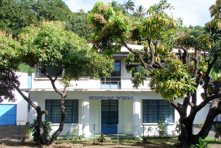 Bâtiment de la météorologie nationale de Faa'a © Tahiti Heritage