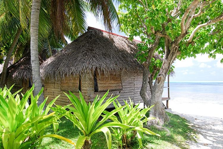 Bungalow de la pension de Tetamanu à Fakarava