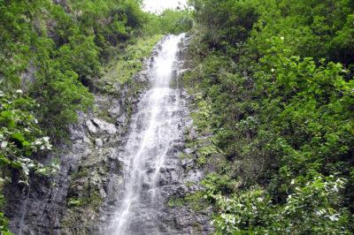 Haut de la cascade Vaieenui de Hanavave à Fatu Hiva.