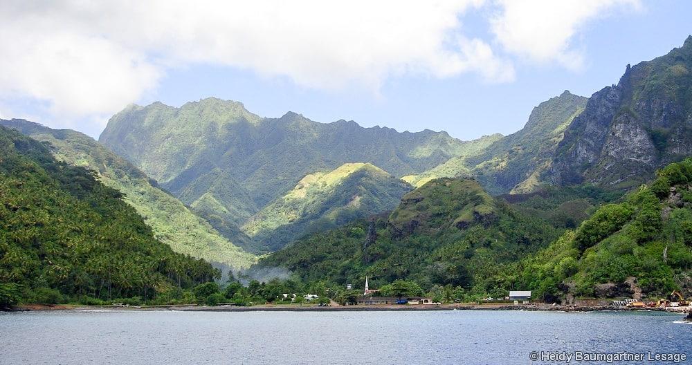 Baie de Omoa à Fautu Hiva. Photo Heidy Baumgartner Lesage