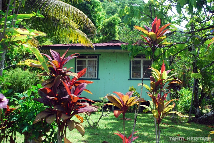 Petite maison verte de Hitiaa © Tahiti Heritage