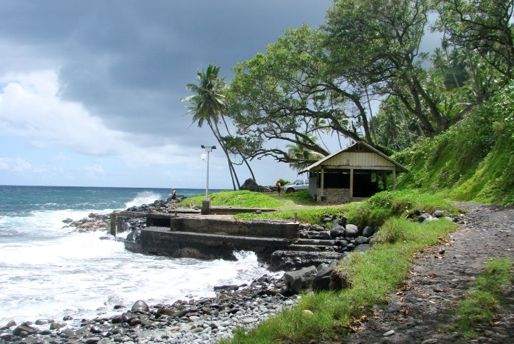 Embarcadère de Hanapaoa, Hiva Oa. Photo Jean Sancourt