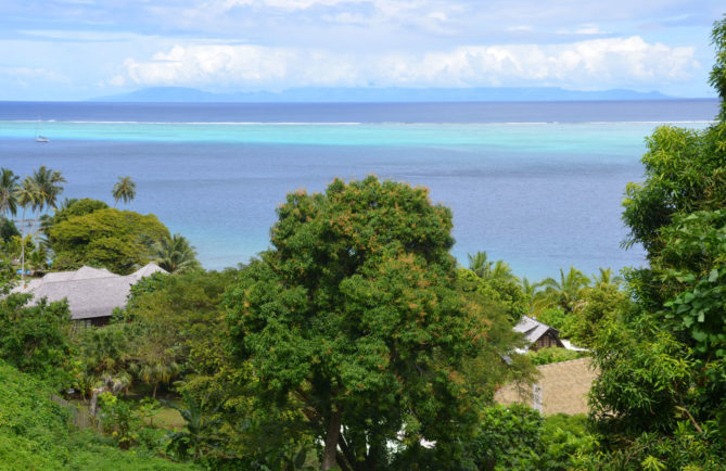 Pointe Tereia, à Fitii Huahine