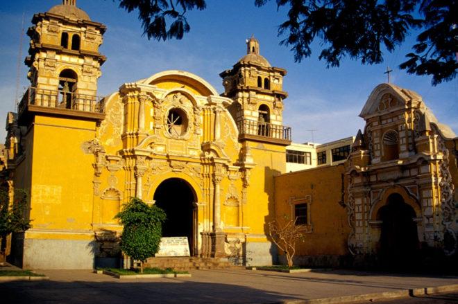 Eglise de Trisco au Pérou où se trouvait le trésor de Pisco