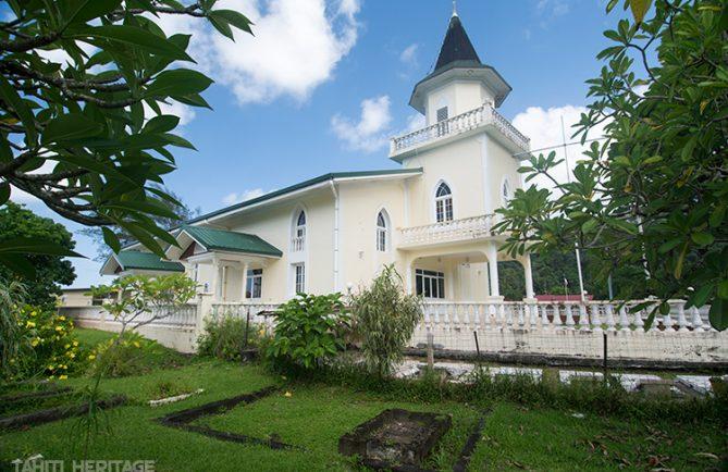 Temple protestant de Mahaena, Hitiaa O Te Ra, Tahiti. © Tahiti Heritage