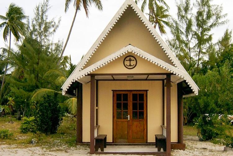 Le temple protestant de Makemo en 2004