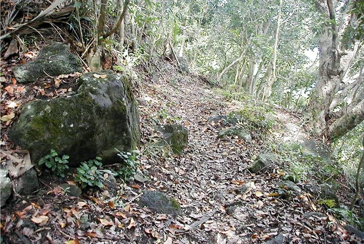 Chemin des douze apôtres, à Mangareva © Tahiti Heritage