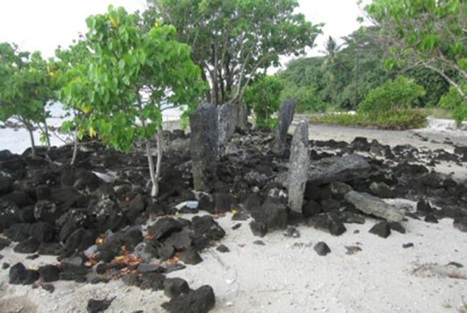 Marae Taifarii à Maupiti. Photo Tamara Maric