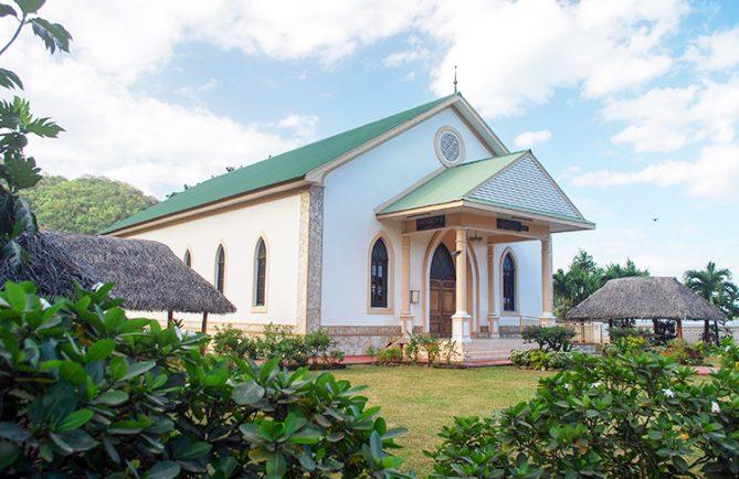 Temple protestant de Horeba - Afareaitu. 2013 © Tahiti Heritage