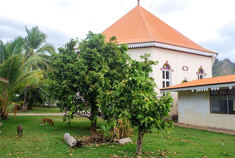 Source du temple Ebenezer de Papetoai à Moorea.
