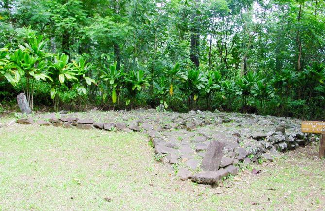 Plateforme d'archers d'Opunohu, Moorea