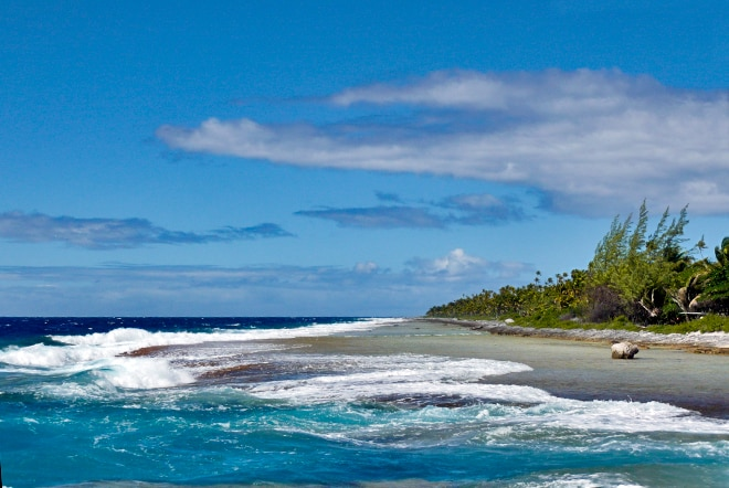 Trou des mokorea, à Niau Tuamotu