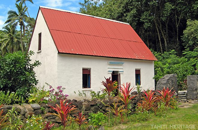 Presbytère d'Akamanu , Gambier © Tahiti Heritage
