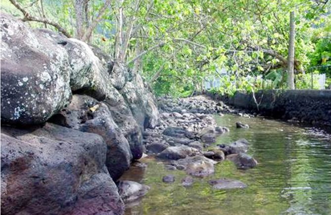 Embouche de la rivière, Tiamao, Papara