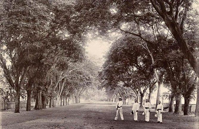Avenue Saint Amélie à Papeete en 1900