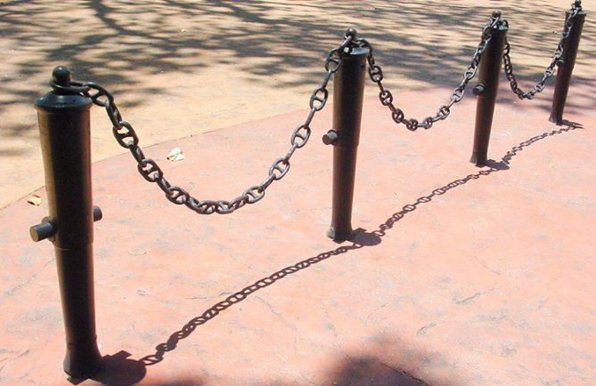 Le quatre petits canons du parc Bougainville à Papeete