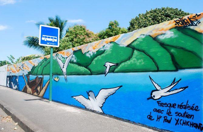 Fresque aux oiseaux pirae