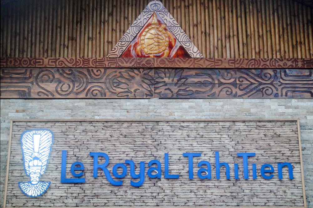 Fronton du Royal Tahitien à Pirae