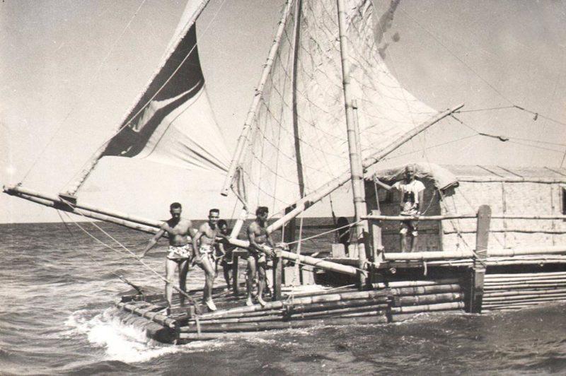 Radeau Tahiti nui d'Eric de bisschop.
