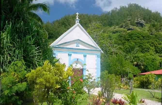 Chapelle Sainte-Anne de Rikitea, Mangareva © Tahiti Heritage
