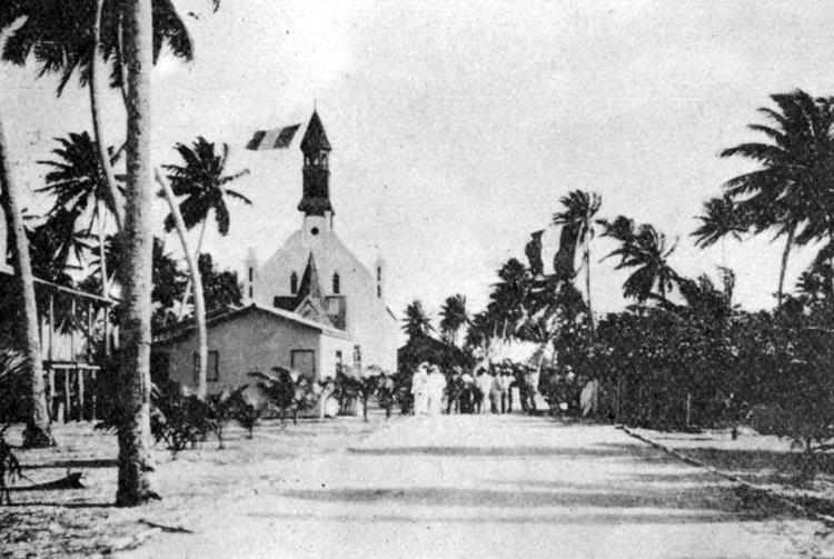 Temple mormon de Takaroa en 1918