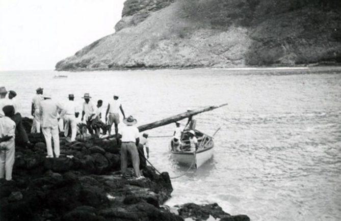 Baie de Hane à Ua Huka en 1935. Photo Philippe Emmanuel Lanes.