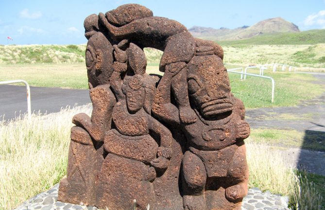 Tiki de l'aeroport de Ua Huka