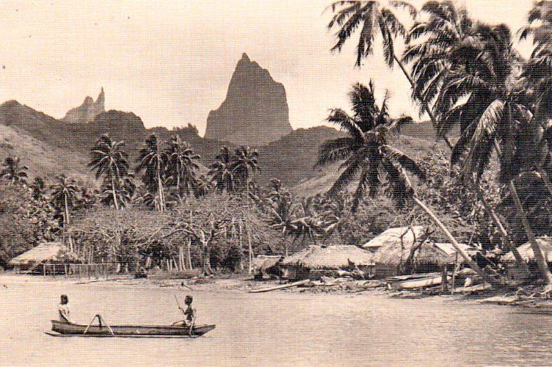 Le village de Haapiti à Moorea en 1930