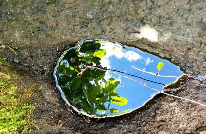 Pierre-source Vaipuna Punaauia. Photo Chantal Alexandre Tahiti Iti