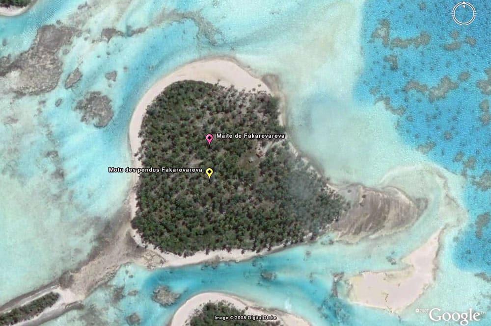 Motu de Fakarevareva de Anaa - Google maps