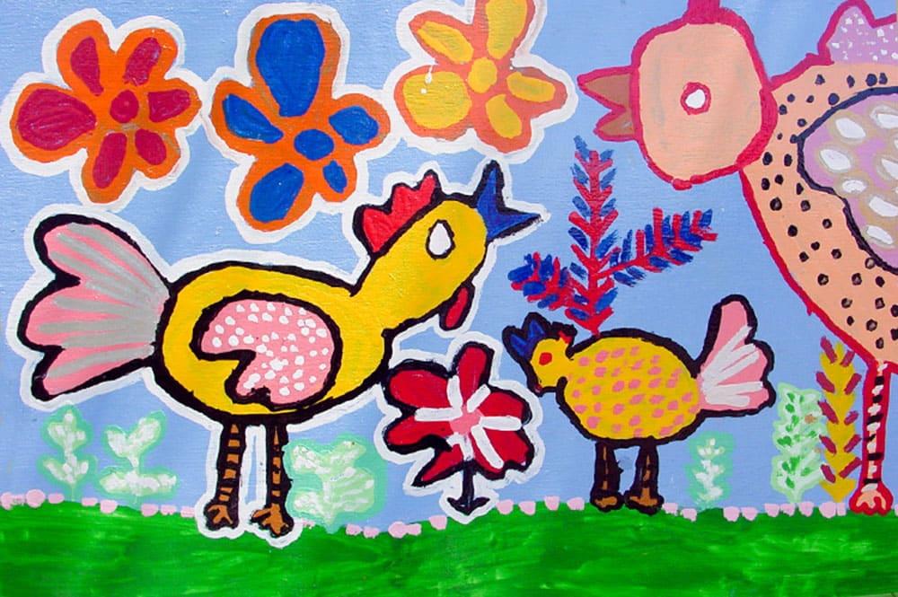 Fresque de l'école Papehue de Paea 2000