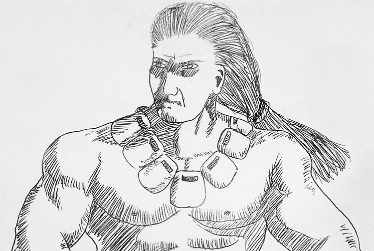 Munanui, le roi géant de Hao dessiné par Daniel Akeou