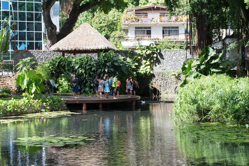Le bassin de la reine Aimata Pomare IV à Papeete