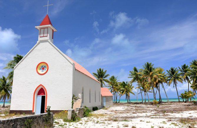 Eglise d'Otepipi, à Anaa. Photo Luca Gargano