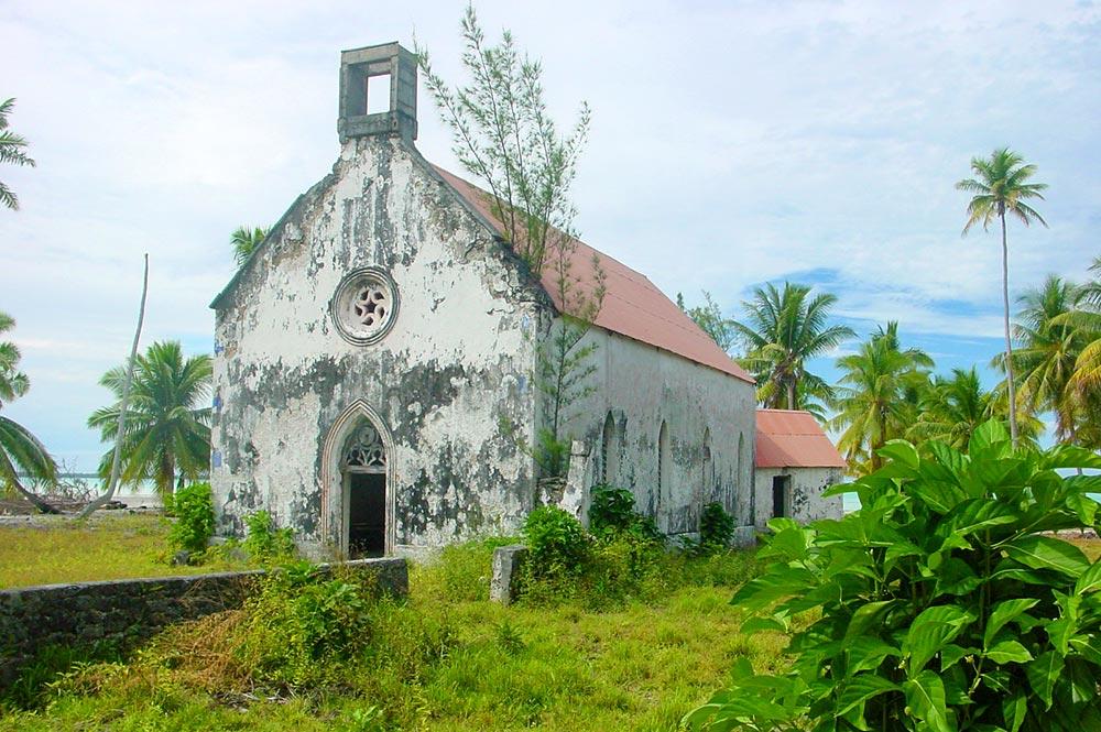 Eglise du Sacré-coeur de Otepipi, à Anaa, Tamotu 2005 © Tahiti Heritage