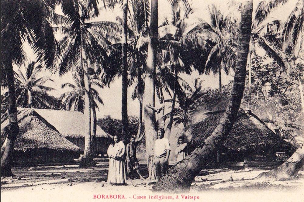 Cases à Vaitape, Bora Bora