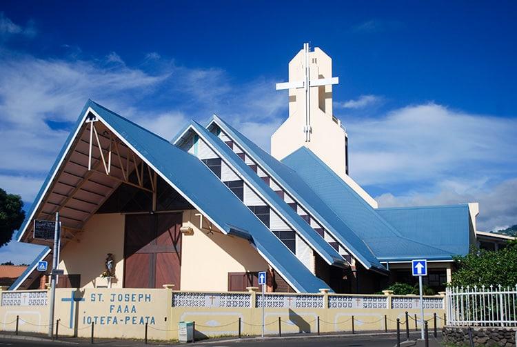 Eglise Saint-Joseph de Faa'a, Tahiti.