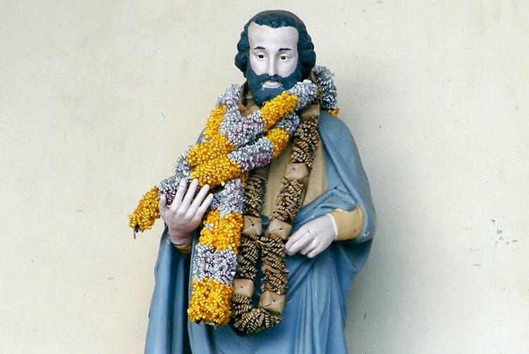 Statue de Saint-Joseph à l'église Saint-Joseph de Faa'a, Tahiti.