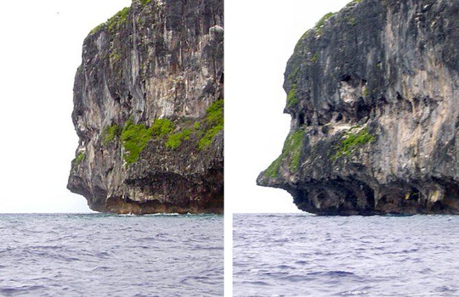 Nez de Pinocchio à Makatea © Tahiti Heritage